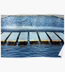 Urban water pattern Poster
