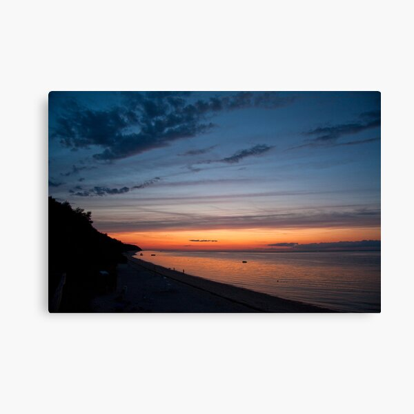 Friendship Beach, Rocky Point, New York Sunset Canvas Print