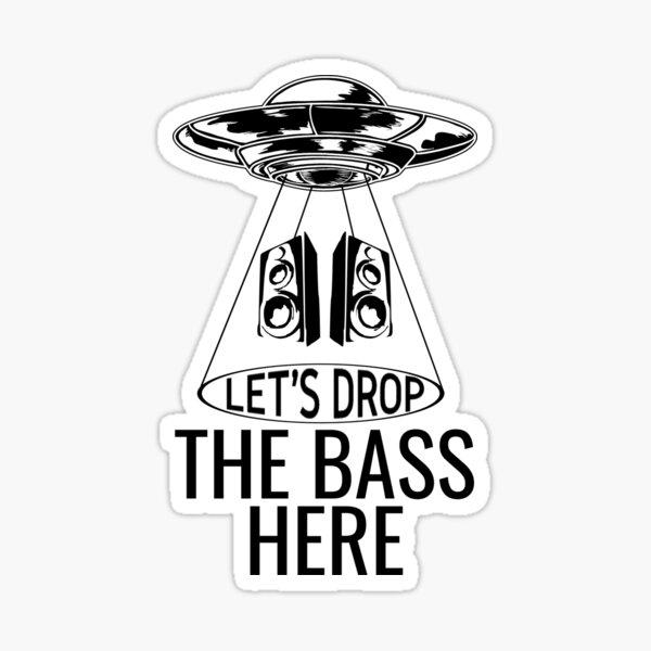 UFO Alien Rave EDM Underground Rave Bass Music Gift  Sticker