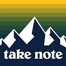Take Note mountains 2 by SaturdayAC