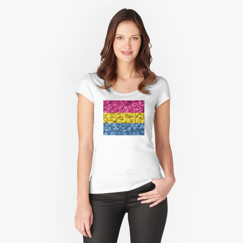 Abstract Pansexual Flag Fitted Scoop T-Shirt