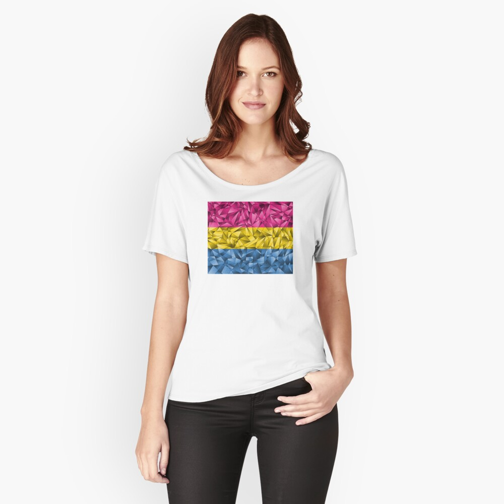 Abstract Pansexual Flag Relaxed Fit T-Shirt