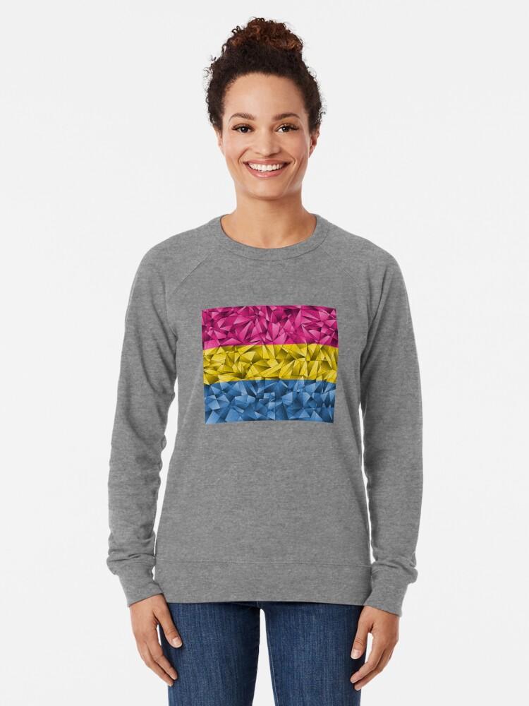 Alternate view of Abstract Pansexual Flag Lightweight Sweatshirt