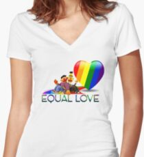 Equal Love Women's Fitted V-Neck T-Shirt