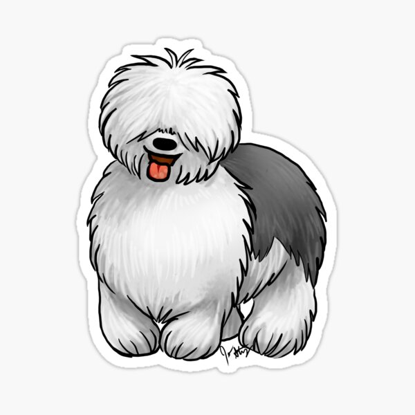 Old English Sheepdog Sticker