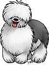 Old English Sheepdog by Jennifer Stolzer
