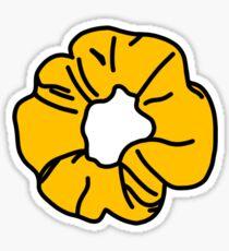 yellow schrunchie Sticker