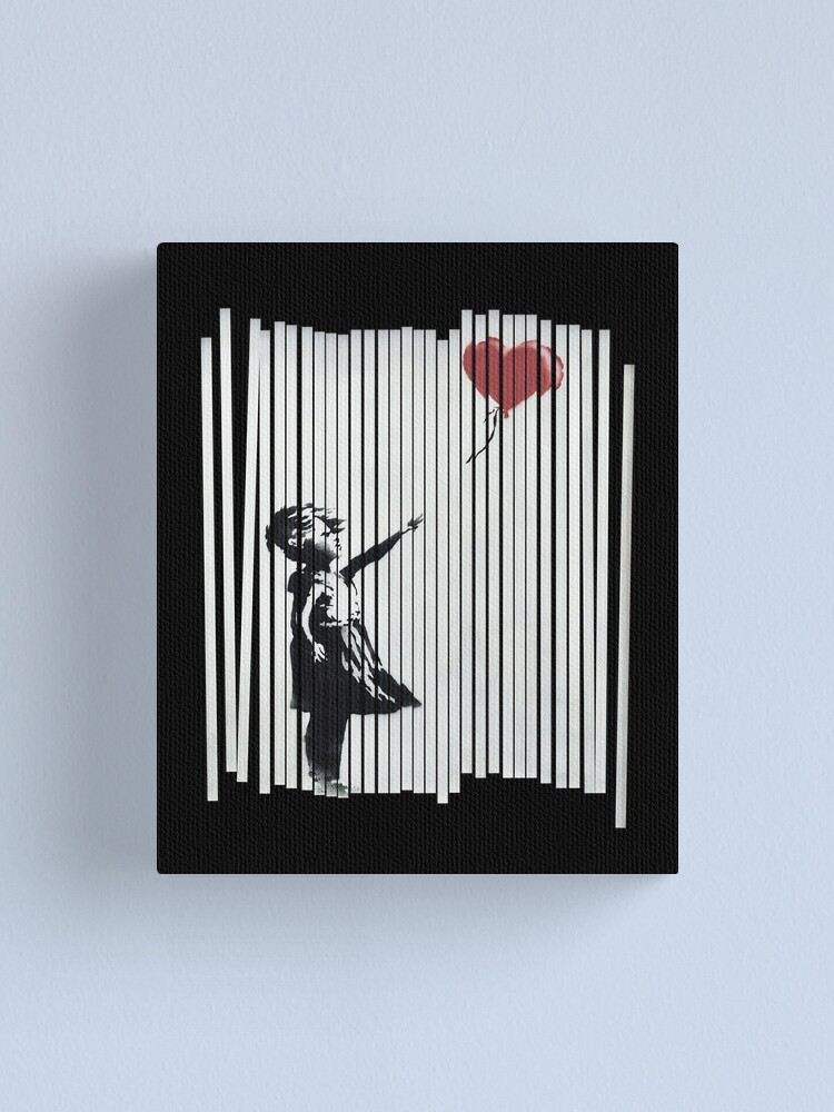 Alternate view of Hey! I Fixed It! Banksy Shredded Balloon Girl  Canvas Print