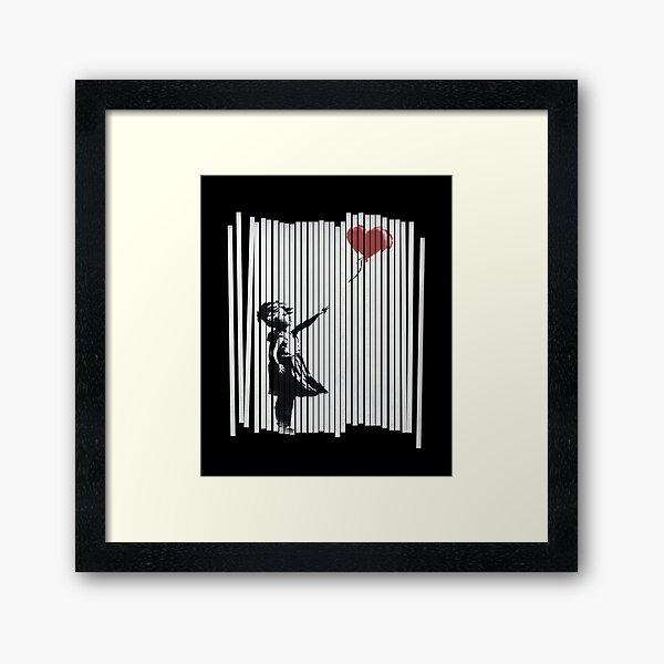 Hey! I Fixed It! Banksy Shredded Balloon Girl  Framed Art Print