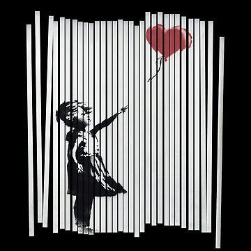 Hey! I Fixed It! Banksy Shredded Balloon Girl  by japdua