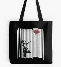 Hallo! Ich habe es repariert! Banksy Shredded Balloon Girl Tote Bag