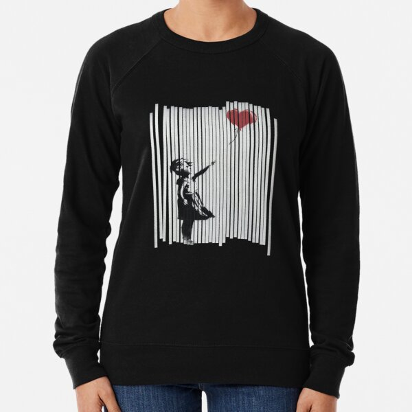 Hey! Je l'ai corrigé! Banksy Shredded Balloon Girl Sweatshirt léger