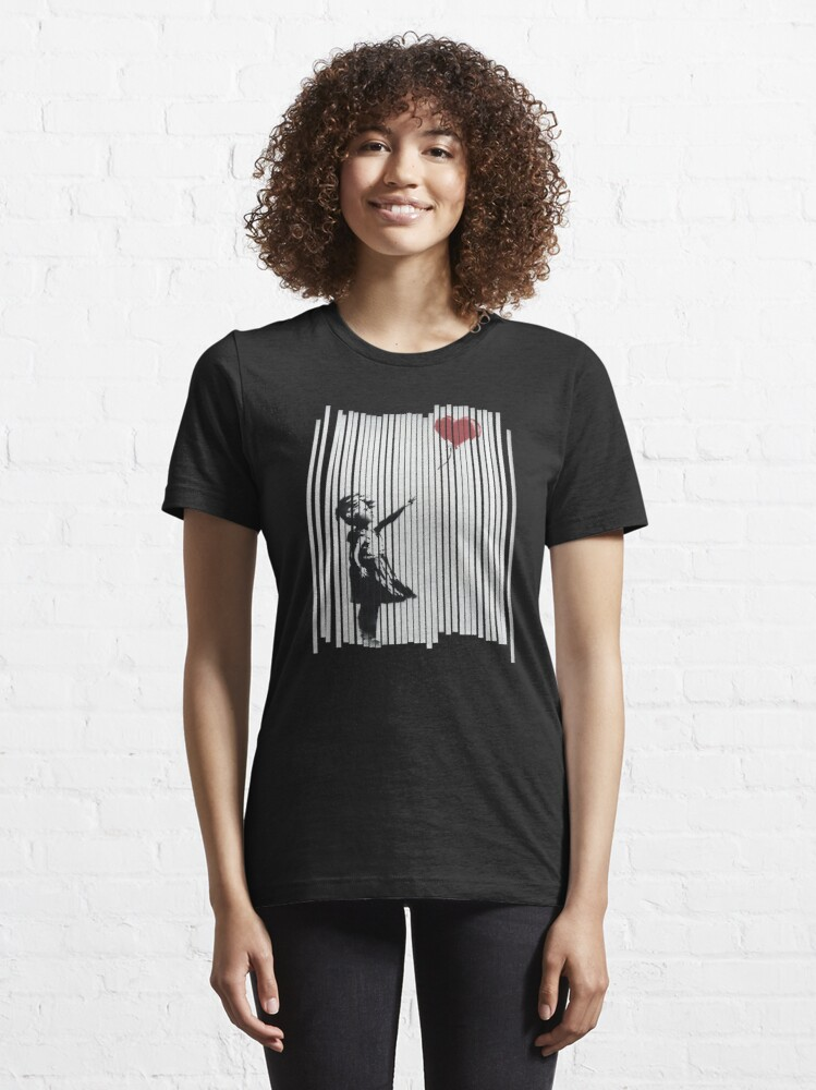 Alternate view of Hey! I Fixed It! Banksy Shredded Balloon Girl  Essential T-Shirt