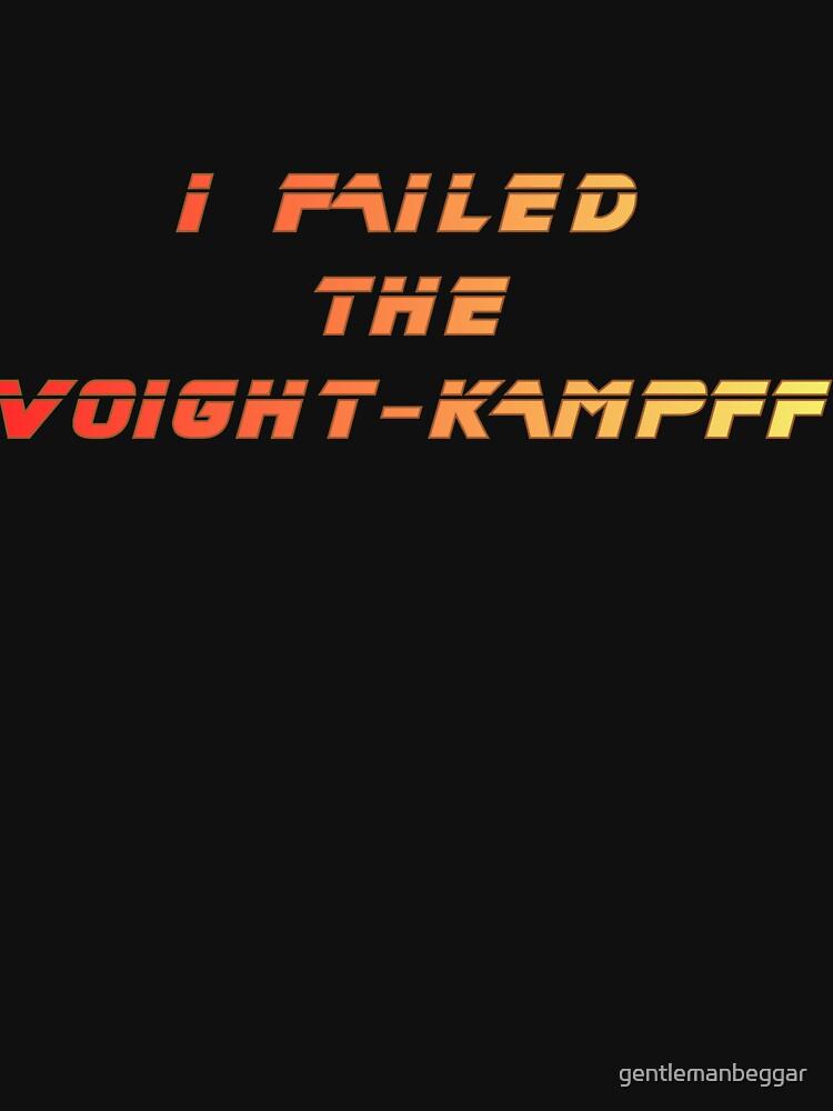 I failed the Voight-Kampff by gentlemanbeggar