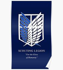 Attack on Titan scouting legion Shingeki no Kyojin Poster