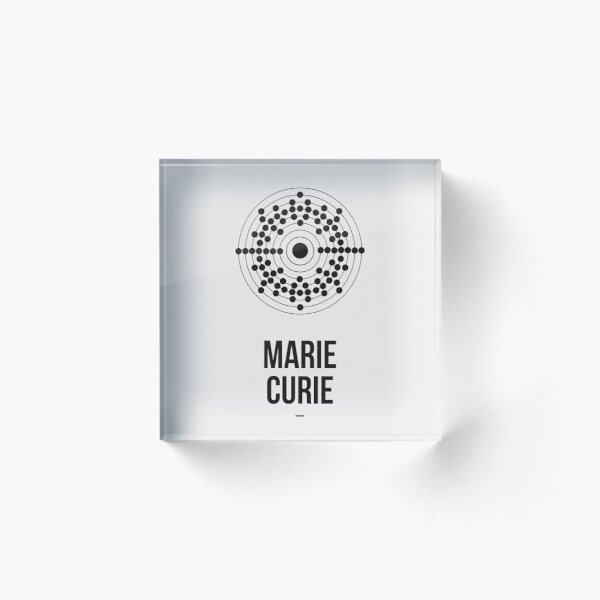 MARIE CURIE - Women in Science Acrylic Block