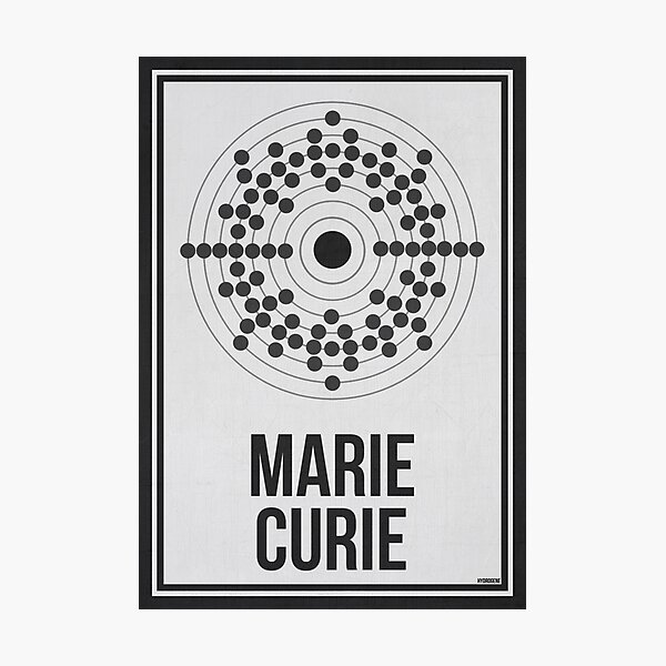MARIE CURIE - Women in Science Photographic Print