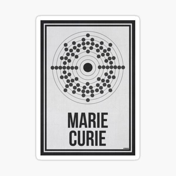 MARIE CURIE - Mujeres en la ciencia Pegatina