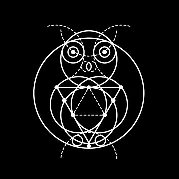 The Owl Sacred Geometry by highparkoutlet