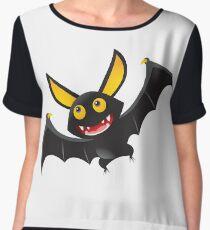 Bat Clipart no Background #cartoon #illustration #animal #halloween #cute #bird #monster #black #bat #fish #cat #art #moon #blue #bats #design #abstract #wings #yellow #funny Chiffon Top