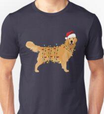 Golden Retriever Holiday Christmas Light Unisex T-Shirt
