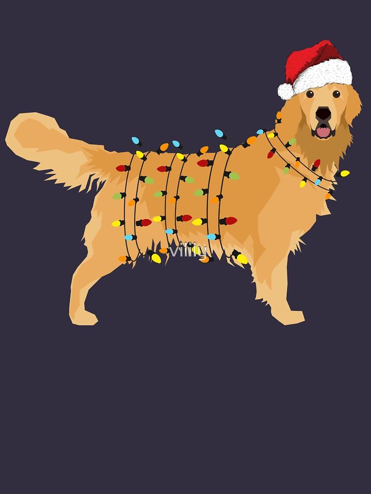 Golden Retriever Holiday Christmas Light by vilily
