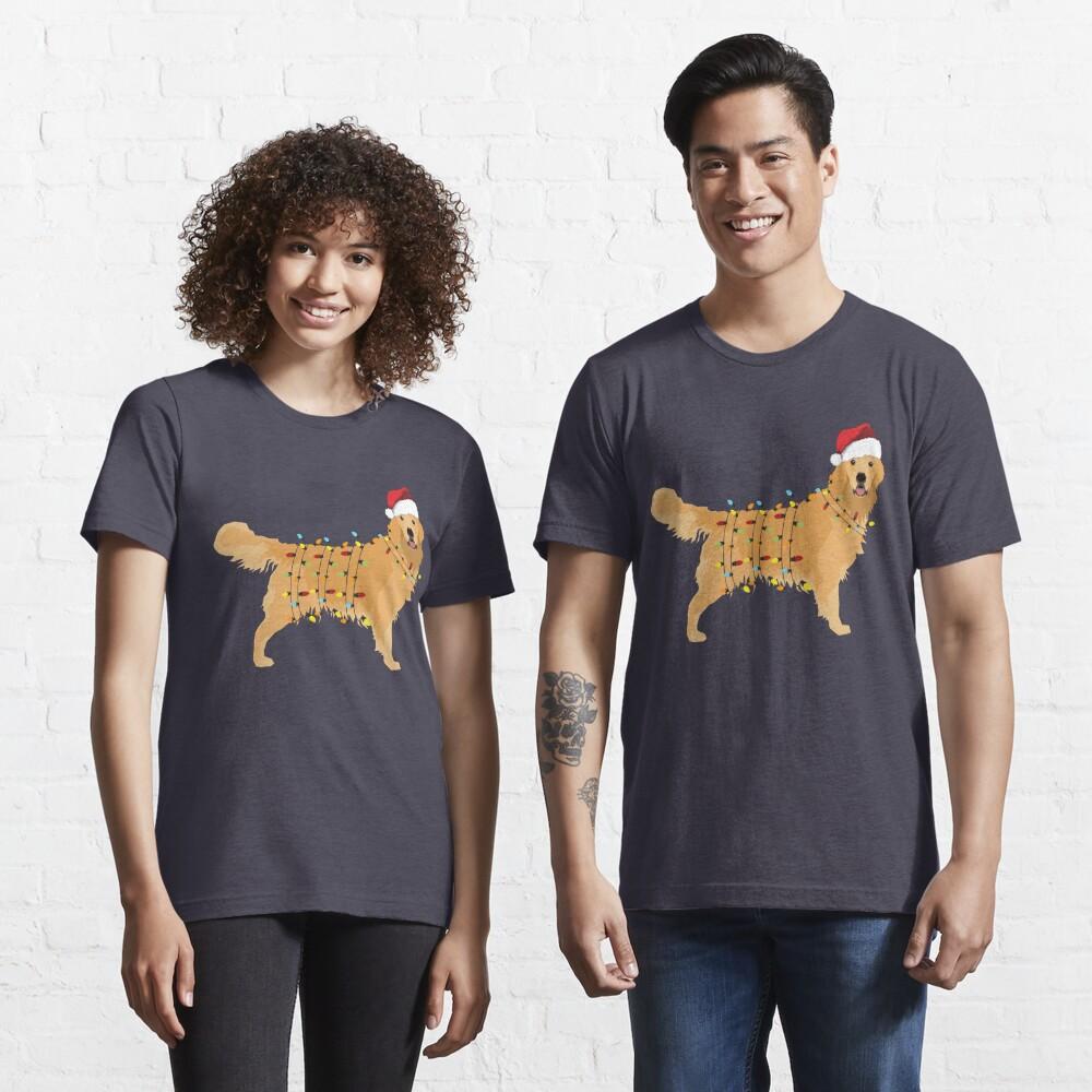 Golden Retriever Holiday Christmas Light Essential T-Shirt