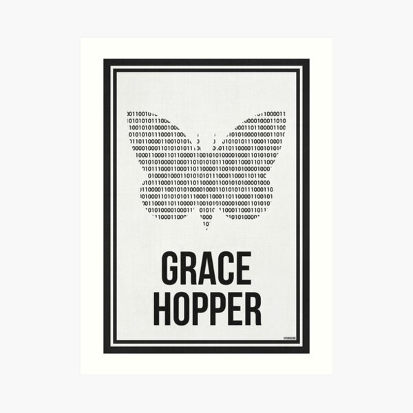 GRACE HOPPER - Women in Science Art Print