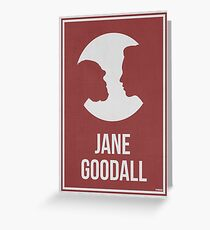 JANE GOODALL - Women in Science Greeting Card