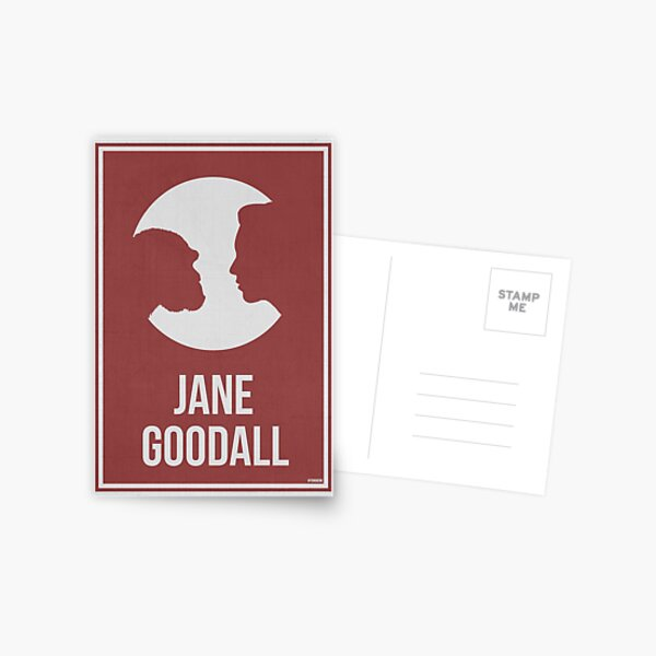 JANE GOODALL - Women in Science Postcard