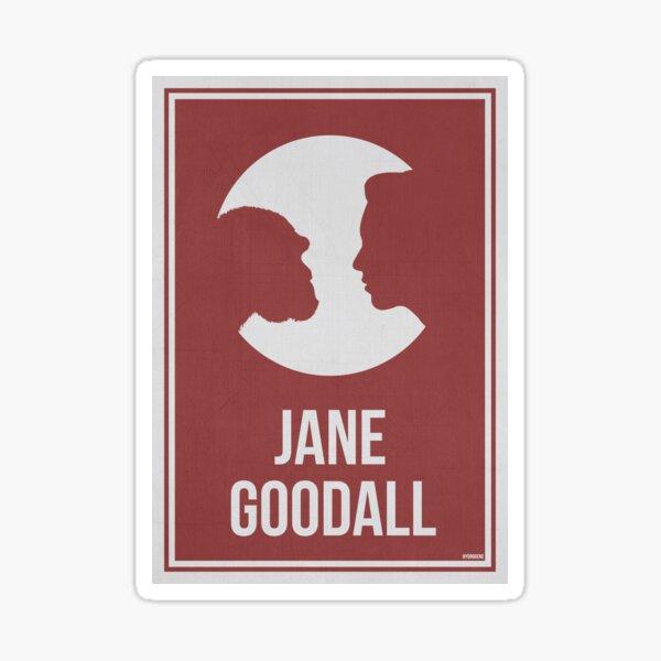 JANE GOODALL - Mujeres en la ciencia Pegatina