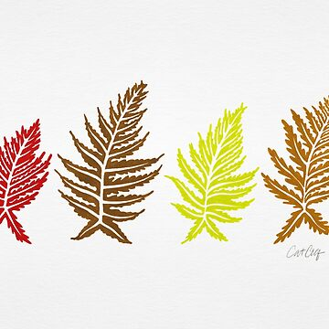 Inked Ferns – Autumn Palette by catcoq