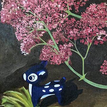Oh Deer, Pink Flower  by cuteism