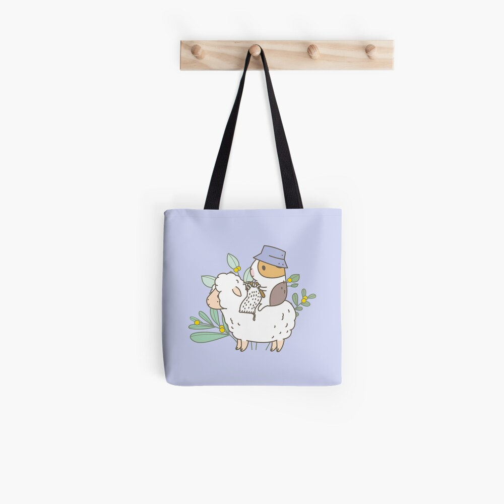Bubu  the Guinea Pig, Knitting  Tote Bag