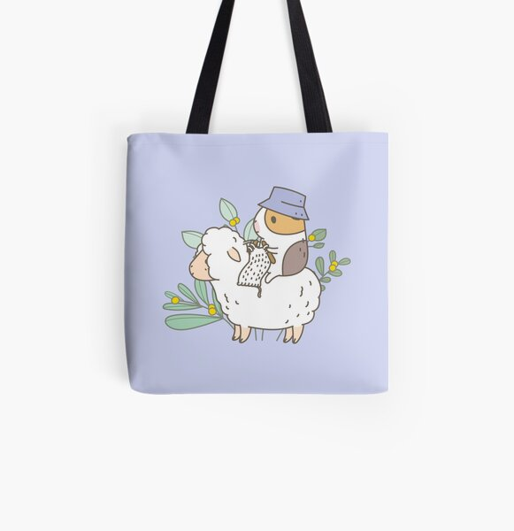 Bubu  the Guinea Pig, Knitting  All Over Print Tote Bag