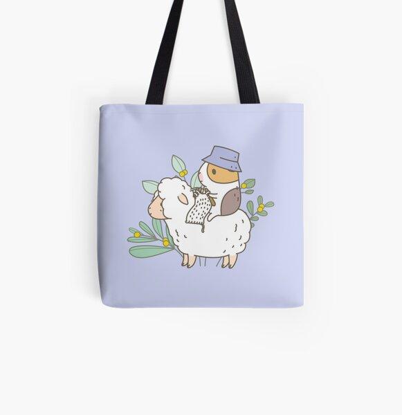 Bubu  the Guinea Pig, Knitting  All Over Print Tote Bag