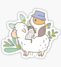Bubu  the Guinea Pig, Knitting  Sticker