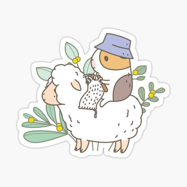 Bubu  the Guinea Pig, Knitting  Sticker