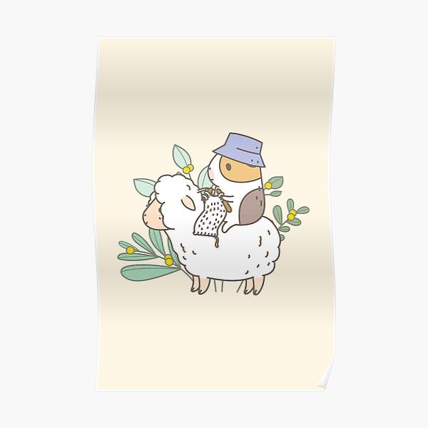 Bubu  the Guinea Pig, Knitting  Poster