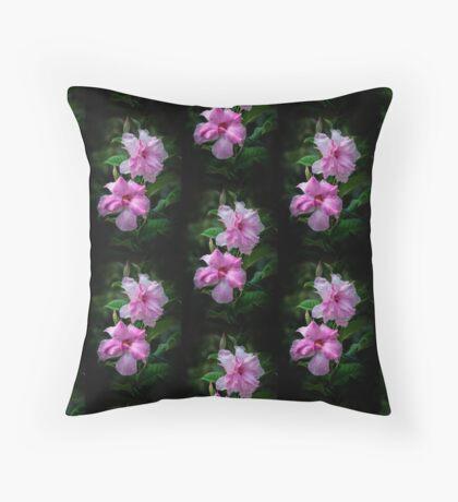 Mandevilla In Pink Throw Pillow
