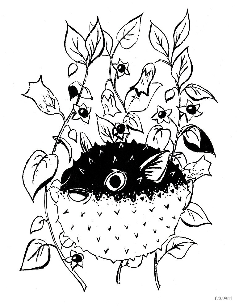"""Inktober 2018 - Day 1 - """"Poisonous"""" by rotem"""