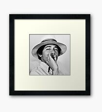 obama smoking Framed Print