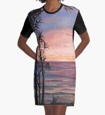 Nehan Sunset Graphic T-Shirt Dress