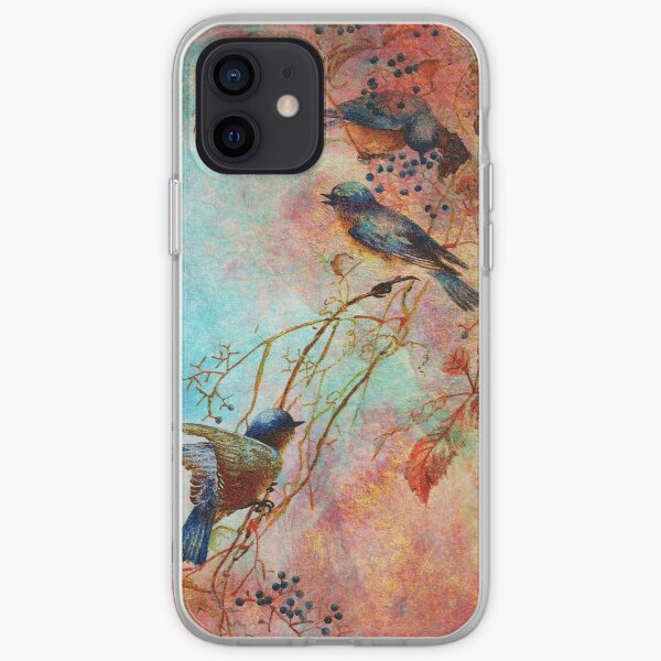 BLUEBIRDS IN AUTUMN iPhone Soft Case