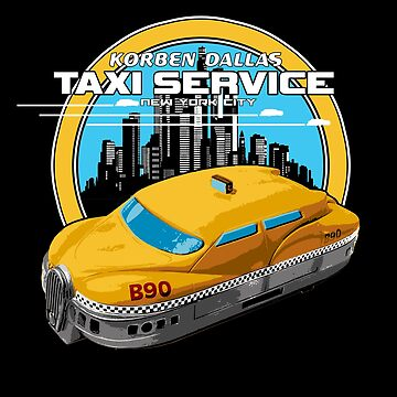 Korben Dallas Taxi Service - Inspired by The Fifth Element by WonkyRobot