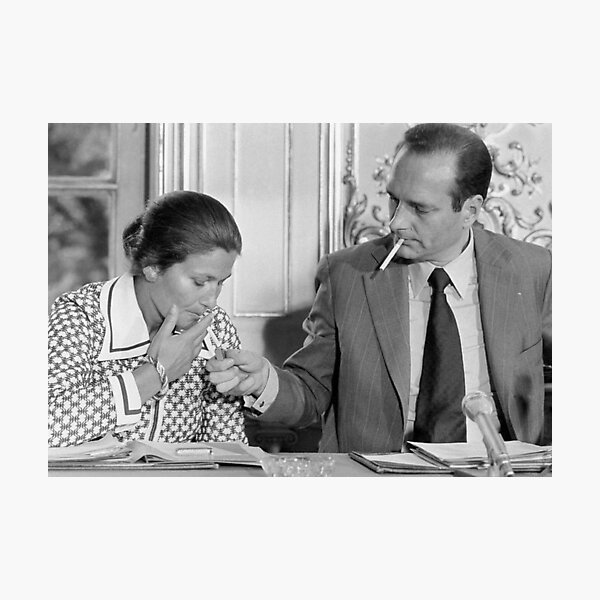 Chirac Veil on his cunts! Photographic Print