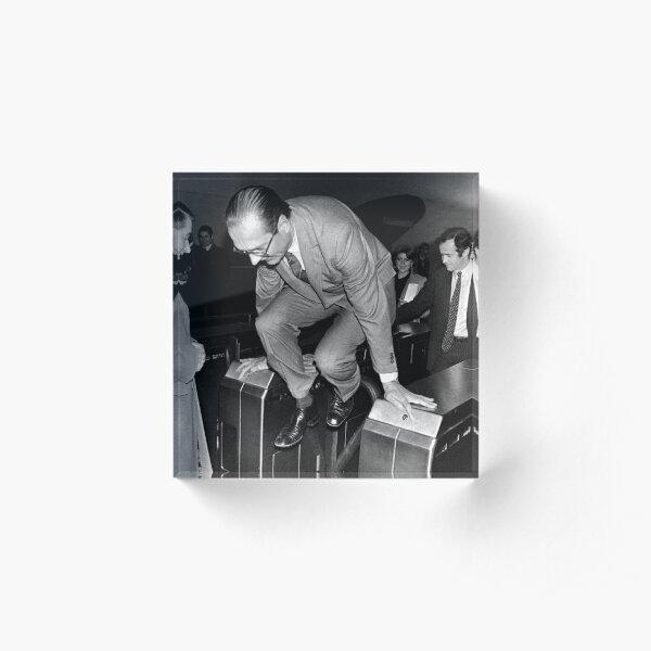 Chirac et le Métro! Bloc acrylique