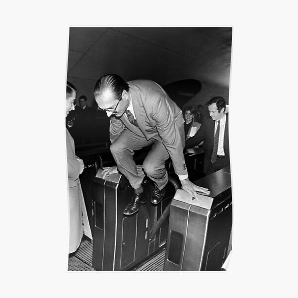 Chirac and the Metro! Poster