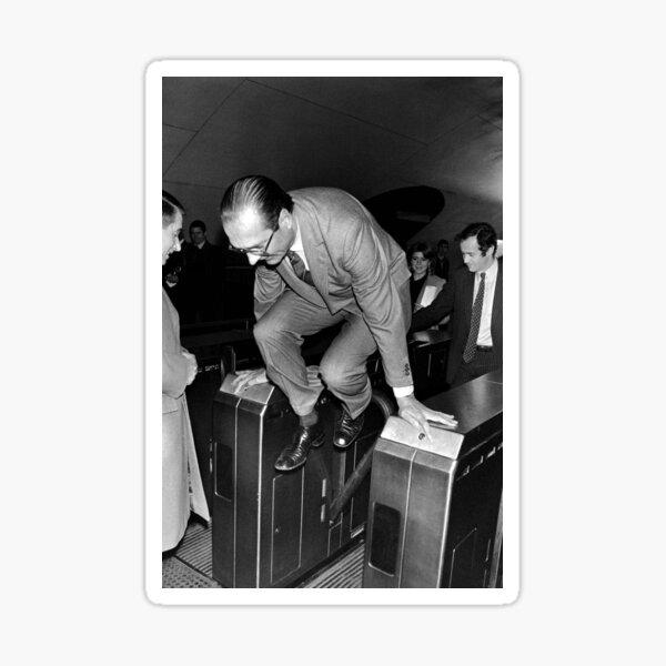 Chirac and the Metro! Sticker
