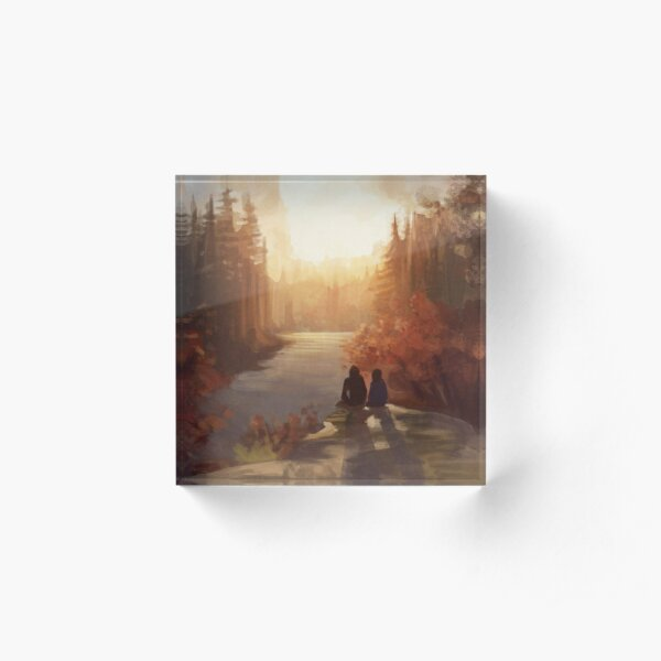 Sunrise Forest Acrylic Block